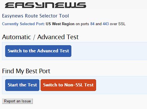 Easynews | Route Selector Tool